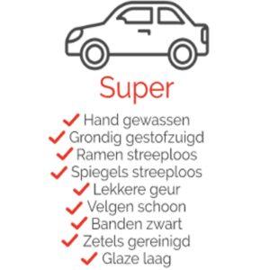 Pakket Super voor uw auto